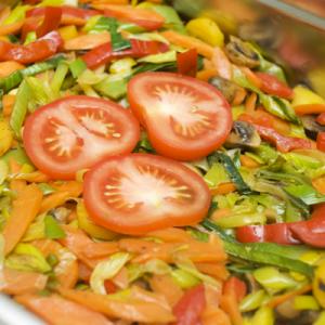 4917 In Olivenöl Gebratenes Gemüse (mind. 10 Port.)
